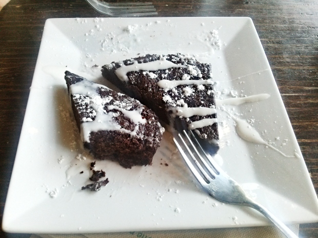 Vegan, Gluten-Free Brownie.